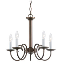 Sea Gull 31809-827 Holman 5 Light 18 inch Bell Metal Bronze Chandelier Ceiling Light photo thumbnail