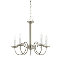 Sea Gull 31809EN-962 Holman 5 Light 18 inch Brushed Nickel Chandelier Ceiling Light