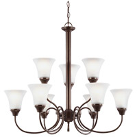 Sea Gull Holman 9 Light Chandelier in Bell Metal Bronze 31810-827