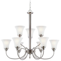 Sea Gull 31810-962 Holman 9 Light 30 inch Brushed Nickel Chandelier Ceiling Light