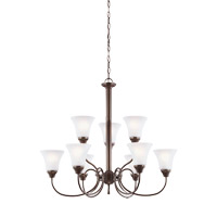 Holman 9 Light 30 inch Bell Metal Bronze Chandelier Ceiling Light