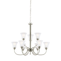 Holman 9 Light 30 inch Brushed Nickel Chandelier Ceiling Light