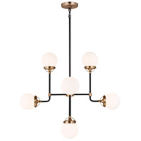 Sea Gull Satin Brass Chandeliers