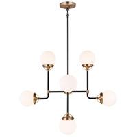Sea Gull 3187908EN-848 Cafe LED 32 inch Satin Brass Chandelier Ceiling Light