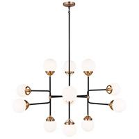 Sea Gull 3187912EN-848 Cafe LED 47 inch Satin Brass Chandelier Ceiling Light