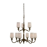 Sea Gull Lighting Montecristo 9 Light Chandelier in Aged Bronze 31888-898 photo thumbnail