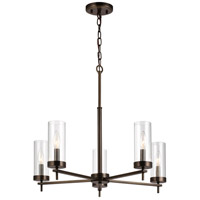 Sea Gull 3190305EN-778 Zire 5 Light 26 inch Brushed Oil Rubbed Bronze Chandelier Ceiling Light