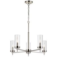 Brushed Nickel Steel Zire Chandeliers