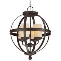 Sea Gull Sfera 4 Light Chandelier Single-Tier in Autumn Bronze 3190404BLE-715