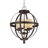 Sfera 4 Light 19 inch Autumn Bronze Chandelier Ceiling Light
