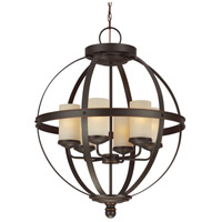 Sea Gull 3190406BLE-715 Sfera 6 Light 25 inch Autumn Bronze Chandelier Single-Tier Ceiling Light in Fluorescent photo thumbnail