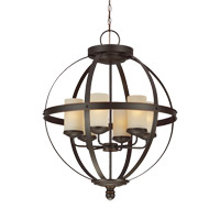 Sfera 6 Light 25 inch Autumn Bronze Chandelier Ceiling Light
