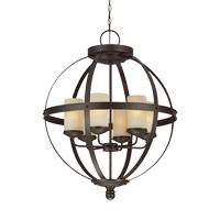 Sea Gull 3190406EN3-715 Sfera 6 Light 25 inch Autumn Bronze Chandelier Ceiling Light