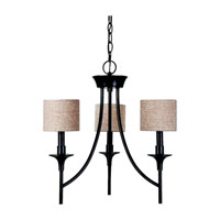 Sea Gull Lighting Stirling 3 Light Chandelier in Oil Rubbed Bronze 31932-790 photo thumbnail