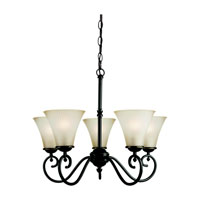 Sea Gull Lighting Joliet 5 Light Chandelier in Heirloom Bronze 31945-782