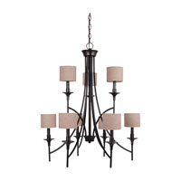 Sea Gull Lighting Stirling 9 Light Chandelier in Burnt Sienna 31952-710 photo thumbnail