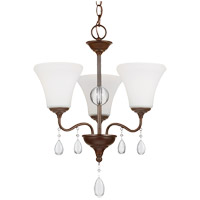 West Town 3 Light 17 inch Burnt Sienna Chandelier Ceiling Light in Standard