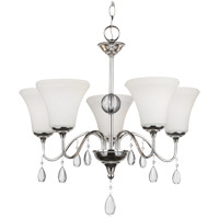 West Town 5 Light 22 inch Chrome Chandelier Ceiling Light in Standard