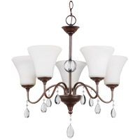 West Town 5 Light 22 inch Burnt Sienna Chandelier Ceiling Light in Standard