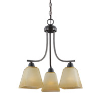 Parkfield 3 Light 18 inch Flemish Bronze Chandelier Ceiling Light