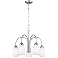 Sea Gull 3220205-962 Seville 5 Light 21 inch Brushed Nickel Chandelier Ceiling Light