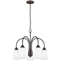 Sea Gull 3220205EN3-710 Seville 5 Light 21 inch Burnt Sienna Chandelier Ceiling Light