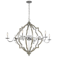 Sea Gull 3224906-872 Socorro 6 Light 40 inch Washed Pine Chandelier Ceiling Light