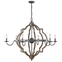 Sea Gull 3224906EN-846 Socorro 6 Light 40 inch Stardust Chandelier Ceiling Light