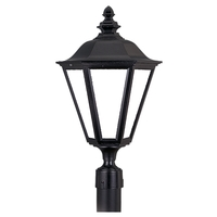 Sea Gull Lighting Signature 1 Light Post Lantern in Black 325089