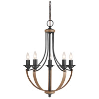 Sea Gull Corbeille 5 Light Chandelier Single-Tier in Stardust / Cerused Oak 3280405-846