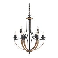 Sea Gull Corbeille 9 Light Chandelier Multi-Tier in Stardust / Cerused Oak 3280409-846