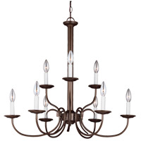 Holman 9 Light 28 inch Bell Metal Bronze Chandelier Ceiling Light