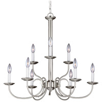 Sea Gull 32810-962 Holman 9 Light 28 inch Brushed Nickel Chandelier Ceiling Light