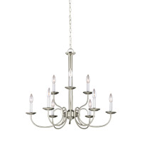 Holman 9 Light 28 inch Brushed Nickel Chandelier Ceiling Light