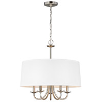 Seville 5 Light 22 inch Brushed Nickel Chandelier Ceiling Light