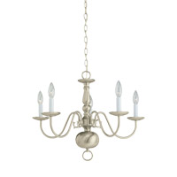 Signature 5 Light 24 inch Brushed Nickel Chandelier Ceiling Light