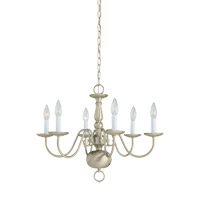 Signature 6 Light 24 inch Brushed Nickel Chandelier Ceiling Light