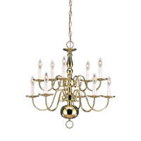Signature 10 Light 24 inch Polished Brass Chandelier Ceiling Light