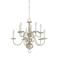 Signature 10 Light 24 inch Brushed Nickel Chandelier Ceiling Light