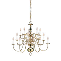 Signature 15 Light 31 inch Polished Brass Chandelier Ceiling Light