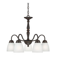 Sea Gull Northbrook 5 Light Chandelier Single-Tier in Roman Bronze 3512405-191