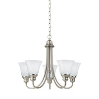 Windgate 5 Light 21 inch Brushed Nickel Chandelier Ceiling Light