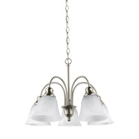 Windgate 5 Light 20 inch Brushed Nickel Chandelier Ceiling Light
