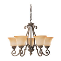Sea Gull Lighting Brandywine 5 Light Chandelier in Antique Bronze 39032BLE-71 photo thumbnail