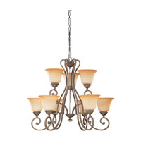 Sea Gull Lighting Brandywine 9 Light Chandelier in Antique Bronze 39033BLE-71 photo thumbnail