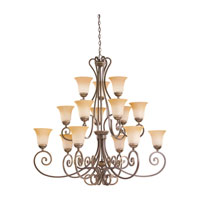 Sea Gull Lighting Brandywine 15 Light Chandelier in Antique Bronze 39034BLE-71