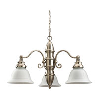 Sea Gull Lighting Canterbury 3 Light Chandelier in Brushed Nickel 39050BLE-962 photo thumbnail