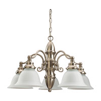 Sea Gull Lighting Canterbury 5 Light Chandelier in Brushed Nickel 39051BLE-962