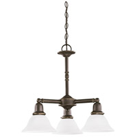 Sussex 3 Light 22 inch Heirloom Bronze Chandelier Ceiling Light in Satin Etched Glass
