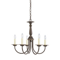 Signature 5 Light 19 inch Heirloom Bronze Chandelier Ceiling Light
